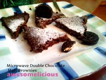malt brownies